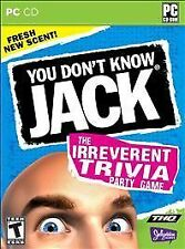 Video Game PC You Don't Know Jack The irreverent Trivia Party Game NEW SEALED
