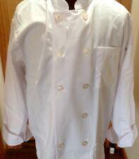Chef Works Men's Le Mans Coat, White, (size Large)