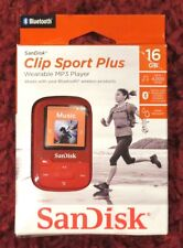 SanDisk - Clip Sport Plus 16GB - Bluetooth MP3 Player (Red) NEW>FREE SHIPPING!!