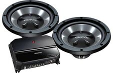 "KENWOOD P-W1221 KAC-5207 AMPLIFIER + 2 KFC-W112S 12"" SUBWOOFERS BASS SPEAKERS"