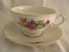 VINTAGE ROMANTIC ROSE PATTERNED CUP & SAUCER SET FROM JAPAN