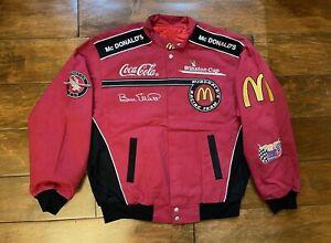 Bill Elliott #94 McDonalds Racing Team Race Jacket Mens Size Large NASCAR Rare