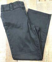 J. CREW City Fit Black Flat Front Straight Leg Women's Jeans Size 4 28x25