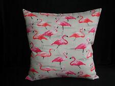 Pink Orange Grey Flamingo Feature Accent Colourful Cushion Cover 45cm  Au Made