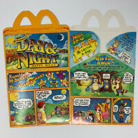 Vintage 1985 McDonalds Day & Night Happy Meal 1 Box Carton 1980s Fast Food
