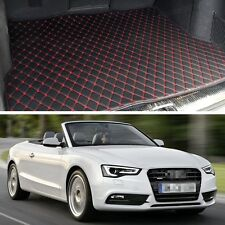Premium Car Trunk Mat Leather Waterproof Fit for 2010-2017 Audi A5 Cabriolet