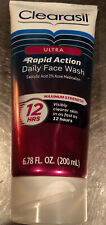 Clearasil Ultra Rapid Action Daily Face Wash - 6.78 oz New & Unused 6/19 Exp.