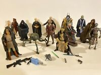 mixed age large lot Kenner Hasbro STAR WARS FIGURES  jedi panaka senator's etc