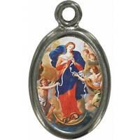 Confezione 10 Medaglie Maria che Scioglie i Nodi in metallo e resina cm 1,5x1