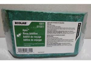 2 Ea ECOLAB Apex Rinse Additive 6116811 2.5 LB