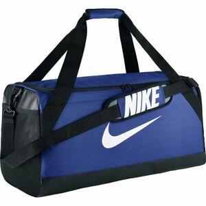 NEW w/Tags Nike Brasilia Medium Duffel Gym Bag BA5334-480  Blue/Black