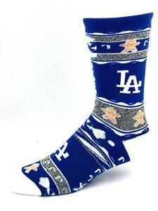 Los Angeles Dodgers Baseball Gray & Blue Ugly Gingerbread Deuce Crew Socks