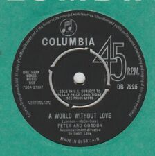 "Peter and Gordon ""A World Without Love/If I Were You"" Columbia 1964 7"""