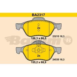 Bremsbelagsatz, Scheibenbremse BARUM BA2317 für RENAULT, Vorderachse