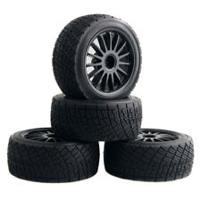 "RC (108075+108076) WR8 Tarmac 2.2"" Tires &Wheel Black 4P For HPI 1/8 WR8 FLUX"