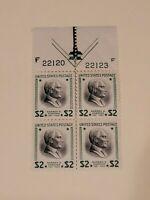 Scott#: 833 - Warren G. Harding Plate Block of 4, 1938 $2 Prexie Mint OG