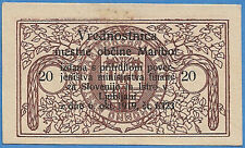 1919 Slovenia 20 Viarjev Issued by the City of Maribor 30 June 1920 Au