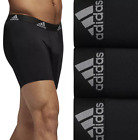 Adidas 29632 Mens Black 3 Pack Performance Boxer Briefs Size Small