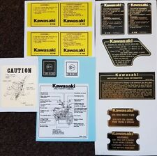 KAWASAKI GPZ1100 Z1000 WARNING DECAL KIT