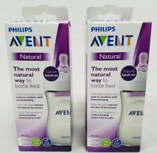 Lot of 2 Philips Avent Natural 9oz Baby Bottles Damaged Box