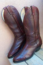 BOULET Mens Cowboy Boots Soft Black Cherry Leather Western Riding Sz Size 8.5E