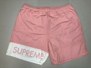SUPREME Banner Water Short Pink M box logo camp cap S/S 16