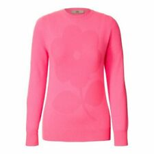 100% CASHMERE candy pink JUMPER daisy knit by designer ORLA KIELY bnwt sml £380