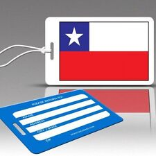 TagCrazy Luggage Tags, Chile National Flag, Durable Plastic Loops-1 Pk