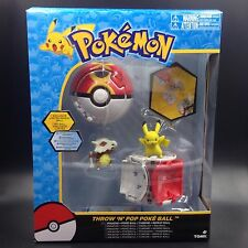 "Bounce Pokeball with Pokemon figure toys pikachu Cubone 2"" TOMY with box"