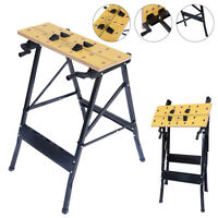 Folding Portable Work Bench Table Tool Garage Repair Workshop 350lb Capacity