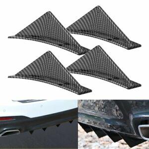 4x Universal Rear Bumper Diffuser Fin Spoiler Lip Wing Splitter Carbon Fiber EAK