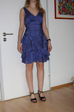 Vera Mont Lila Kleid edel Ballkleid Partykleid Cocktailkleid + Schal Gr.32 =XS/S