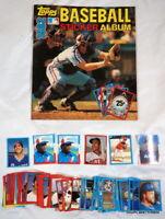 1982 Topps Baseball Sticker Album w/ Partial Set & Loose Unused Stickers