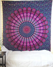 Tapestry Pink & purple Beach Sheet Indian wall Hanging Mandala Bedspread Decor