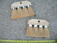 2 NEW ROOFING BRUSH 4 KNOT 8 x 6 3/4 MASONRY UTILITY CLEANING ROOF TOOL BRUSHES=