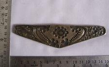 An antique old bell metal jewellery stamp die seal flowers pattern unusual shape