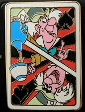 Disney Alice in Wonderland Mad Hatter LE 200 Playing Card Mystery Pin