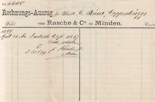MINDEN, Rechnung 1899, Rasche & Co.