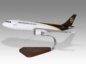 Airbus A300 UPS Ver.2 Solid Kiln Dried Mahogany Wood Handcrafted Display Model