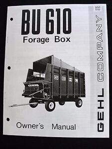Gehl Bu 610 Serie Futter Kiste Betreiber Manuell Sehr Gut Form