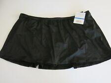 24th & Ocean 22W Tankini Bikini Swimsuit Skirted Black Bottoms Tummy Control