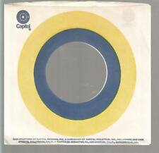 Company Sleeve 45 CAPITOL White w/ Yellow & Blue Circle on
