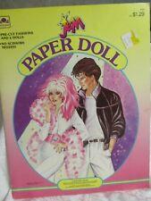 "PAPER DOLLS ""JEM"" 1986 GOLDEN BOOKS HASBRO INC. UNCUT"