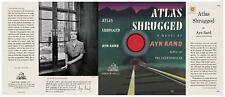 Facsimile Dust Jacket ONLY Ayn Rand Atlas Shrugged 1st Edition 1957