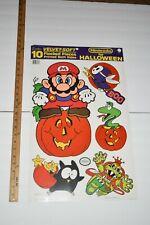 VINTAGE 1989 SUPER MARIO BROS, ZELDA ll - Halloween Cutout Wall Decorations NOS