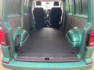 'Genuine' VW Transporter T6 SWB Tailored and Insulated Rubber REAR MAT in Black