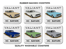 VALIANT  VC  SAFARI  STATION  WAGON           SET OF  6   RUBBER DRINK  COASTERS