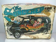 MPC FORD VAN THE SORCERER Model Kit in Box  AS-IS BARN FIND Build Started Parts