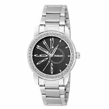 Beautiful Metal Strap Black dial fashionable watch for Girls/women