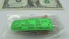200 Carbon Film Resistor 220K Ohm 1/4 Watt 5% 250V Axial Solder Lead 291-220K-RC